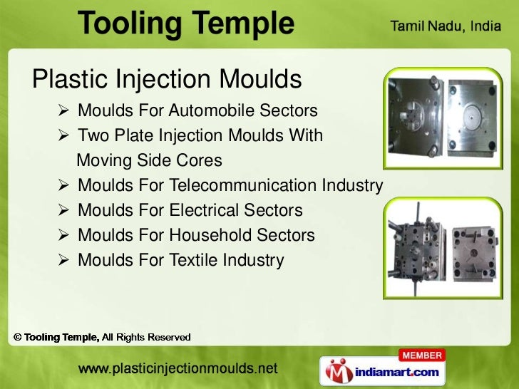 Plastic Injection Moulds   Moulds For Automobile Sectors   Two Plate Injection Moulds With    Moving Side Cores   Mould...