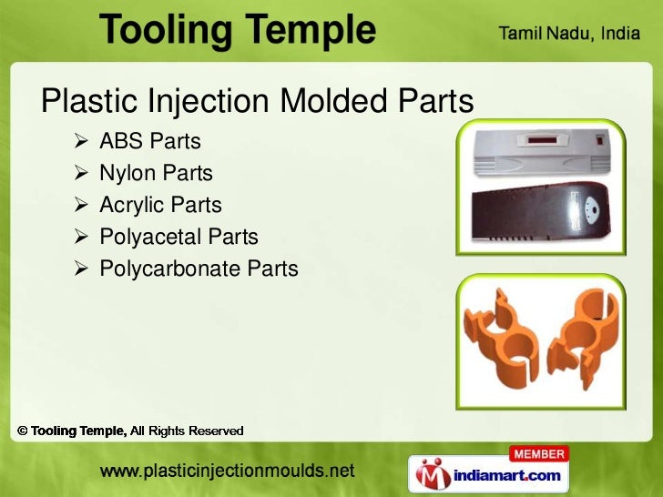 Plastic Injection Molded Parts     ABS Parts     Nylon Parts     Acrylic Parts     Polyacetal Parts     Polycarbonate...