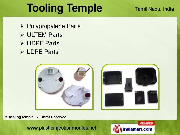    Polypropylene Parts   ULTEM Parts   HDPE Parts   LDPE Parts