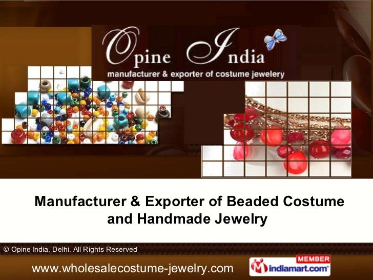 Manufacturer & Exporter of Beaded Costume and Handmade Jewelry