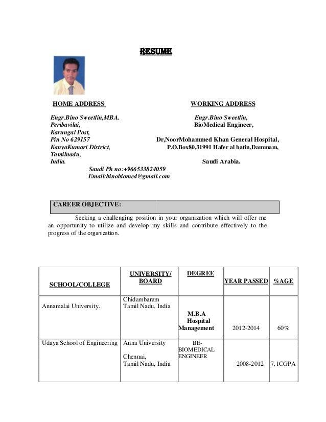 bino resume updated