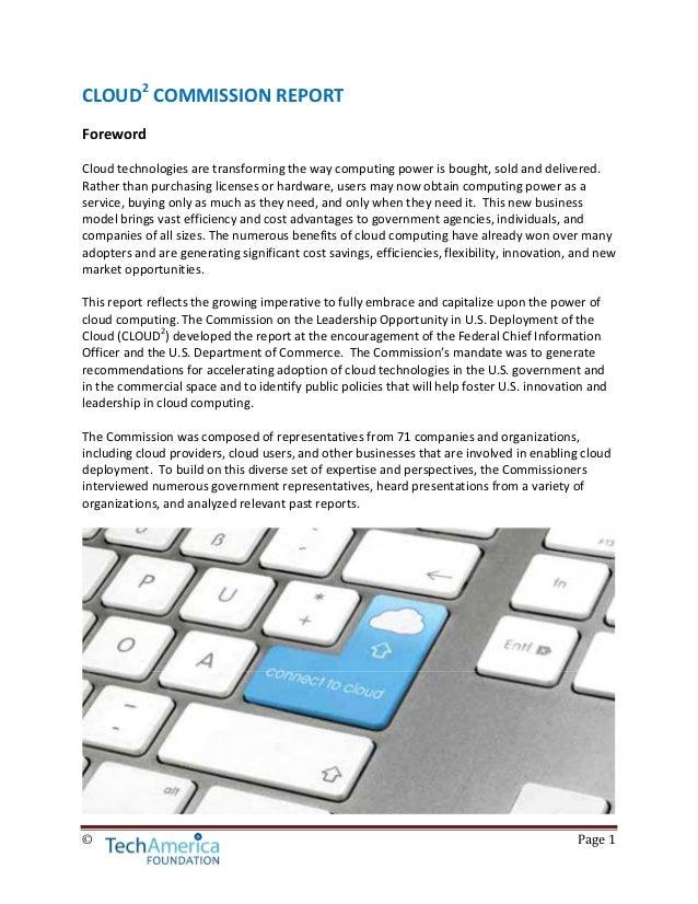CLOUD2 Commission Report Slide 3