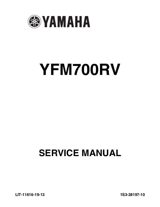 765 1223 raptor 700 service manual rh slideshare net Raptor 700R manual yamaha raptor 700 español