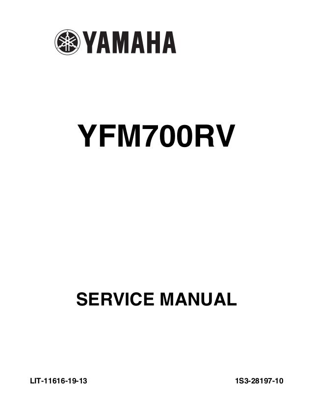 raptor 700 service manual lit 11616 19 13 yamaha