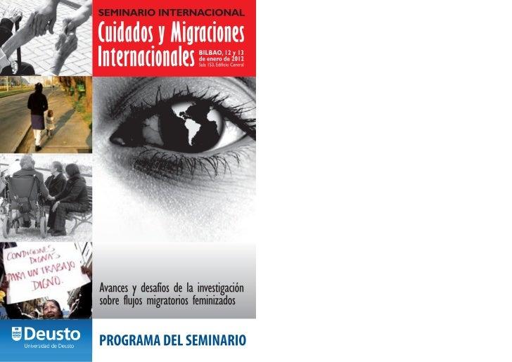 Programa del Semanario Internacional Cuidados y Migraciones