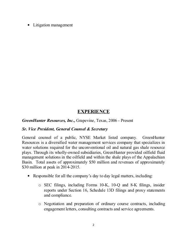 Dorable Cimarex Energy Resume Adornment - Administrative Officer ...