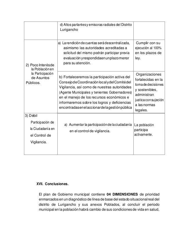 PLAN DE GOBIERNO FREPAP-CHOSICA