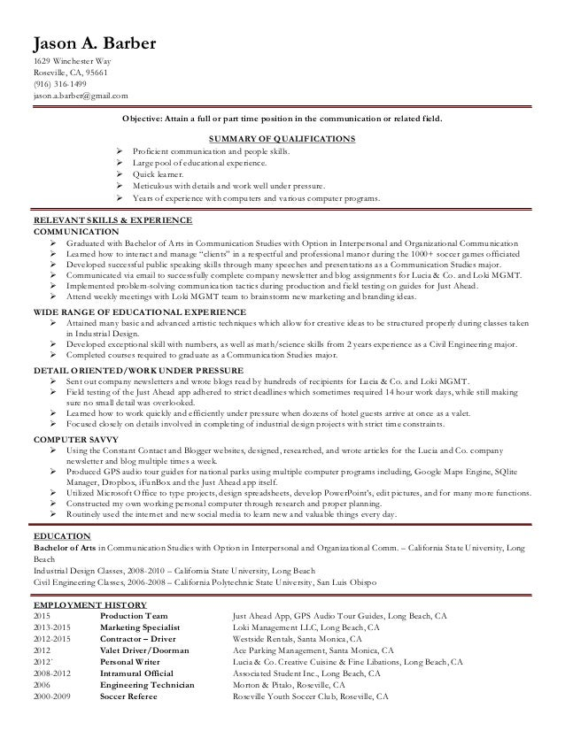 Jason Barber Resume
