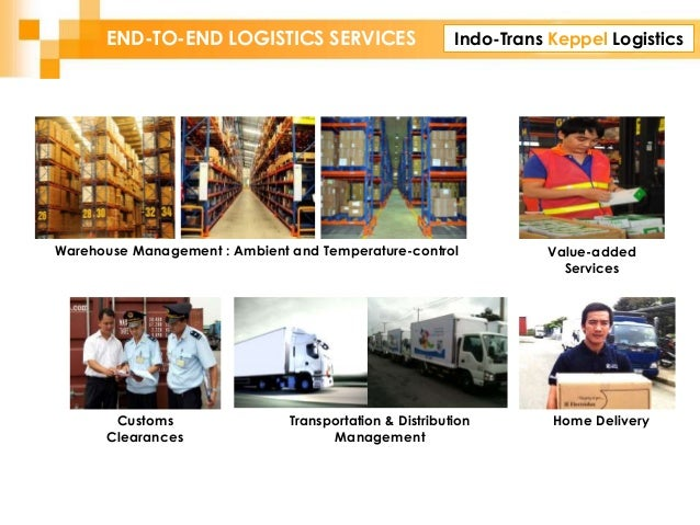 Indo-Trans Keppel LogisticsEND-TO-END LOGISTICS SERVICES Customs Clearances Value-added Services Home Delivery (1) Transpo...