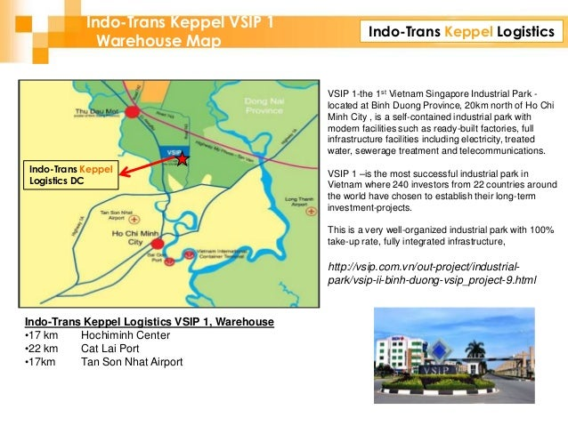 Indo-Trans Keppel Logistics Indo-Trans Keppel VSIP 1 Warehouse Map Indo-Trans Keppel Logistics DC Indo-Trans Keppel Logist...