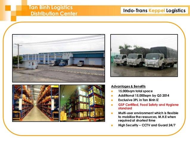 Indo-Trans Keppel Logistics Advantages & Benefits  15,000sqm total space  Additional 15,000sqm by Q3 2014  Exclusive 3P...