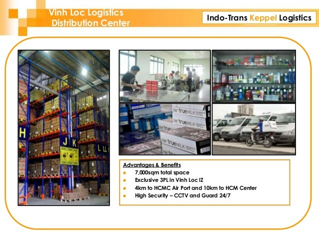 Indo-Trans Keppel Logistics Advantages & Benefits  7,000sqm total space  Exclusive 3PL in Vinh Loc IZ  4km to HCMC Air ...