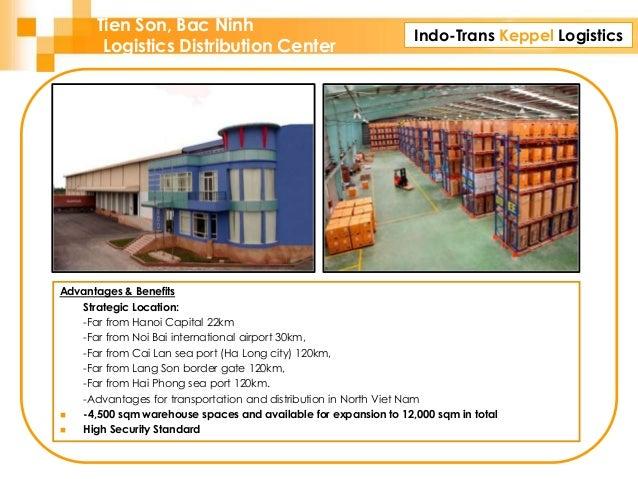 Indo-Trans Keppel Logistics Tien Son, Bac Ninh Logistics Distribution Center Advantages & Benefits Strategic Location: -Fa...