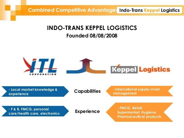 Indo-Trans Keppel LogisticsCombined Competitive Advantages INDO-TRANS KEPPEL LOGISTICS Founded 08/08/2008 Capabilities Exp...