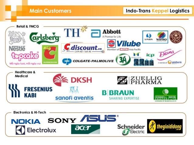Indo-Trans Keppel Logistics Retail & FMCG Healthcare & Medical Electronics & Hi-Tech Main Customers
