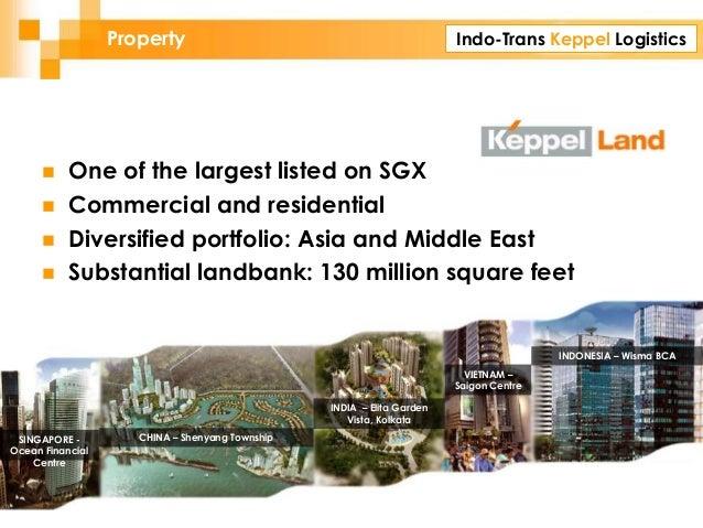 Indo-Trans Keppel Logistics SINGAPORE - Ocean Financial Centre VIETNAM – Saigon Centre INDONESIA – Wisma BCA INDIA – Elita...