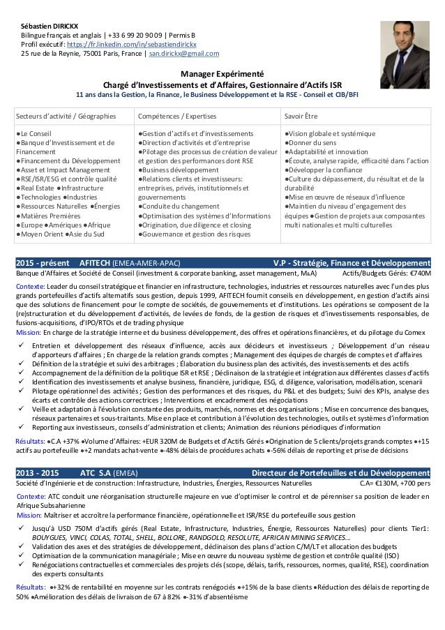 exemple de cv consultant en validation