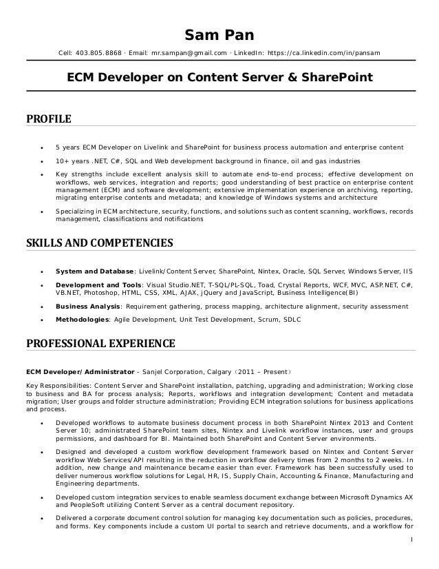 Sam Pan Resume - ECM