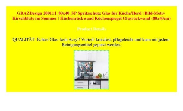 Grazdesign 200111 80x40 Sp Spritzschutz Glas Fur Kuche Herd Bild M