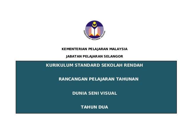 KEMENTERIAN PELAJARAN MALAYSIA JABATAN PELAJARAN SELANGOR  KURIKULUM STANDARD SEKOLAH RENDAH RANCANGAN PELAJARAN TAHUNAN D...