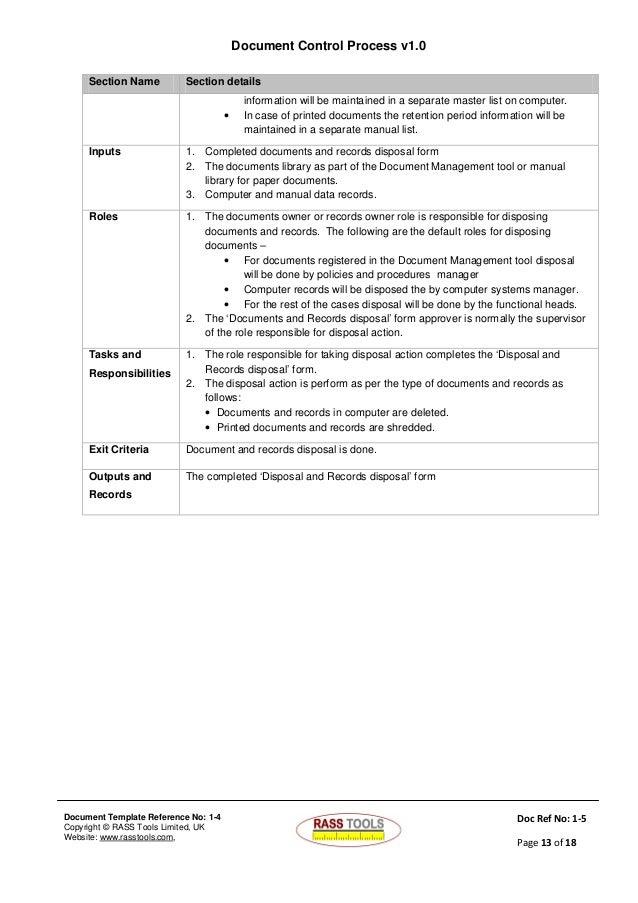 Documents Control Process