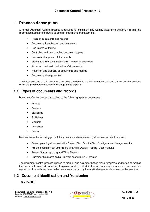 formal documentation template