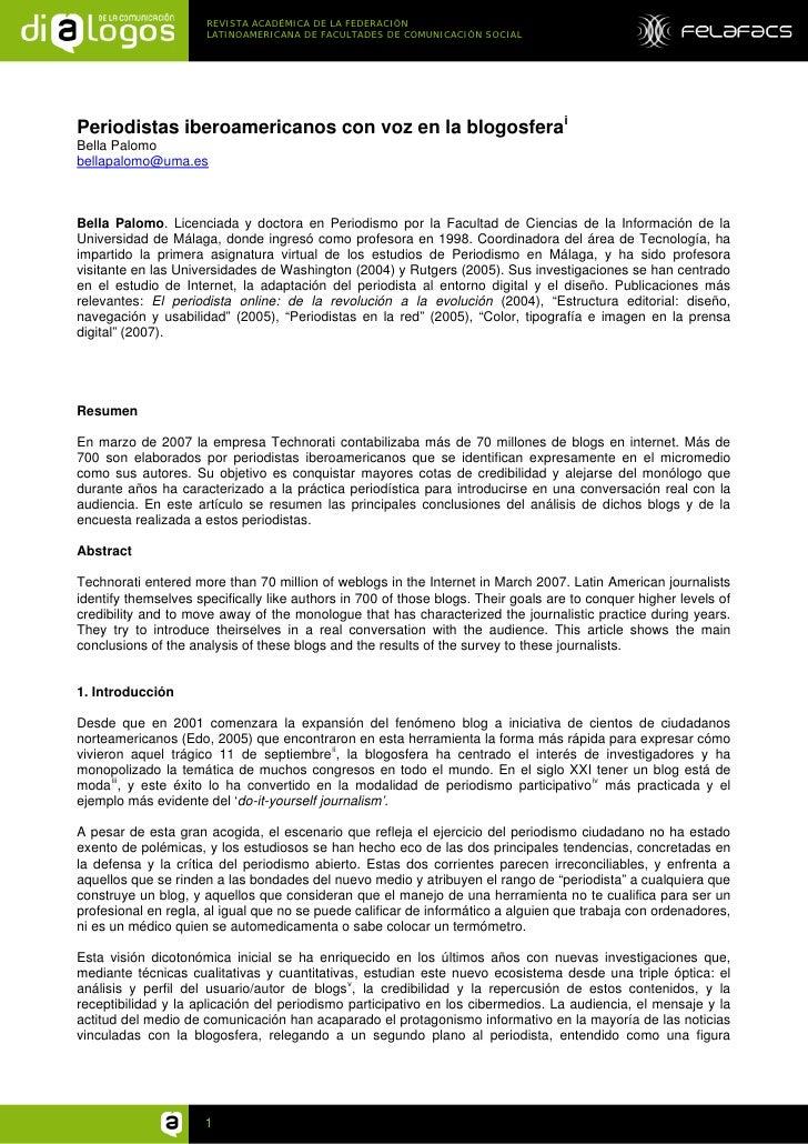 REVISTA ACADÉMICA DE LA FEDERACIÓN                       LATINOAMERICANA DE FACULTADES DE COMUNICACIÓN SOCIAL     Periodis...