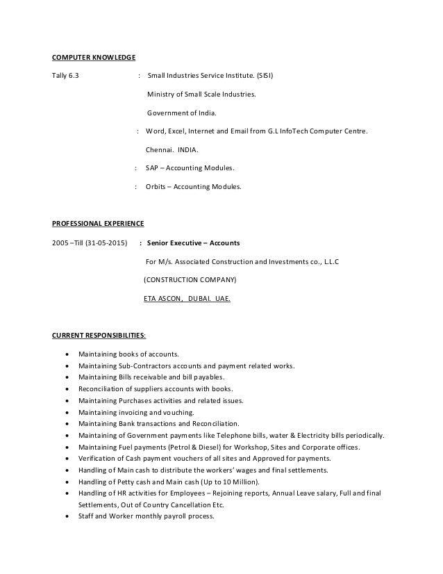 Cv mdakthar accountant 22 05 2015 3 yelopaper Image collections