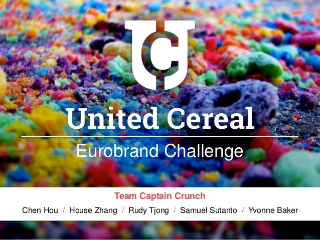 united cereal case El caso de united cereal se desarrolla en el marco de una organización europea, representada en una gran empresa multinacional de alimentos para el desayuno el mismo describe una decisión de lanzamiento de un nuevo producto de cereal.
