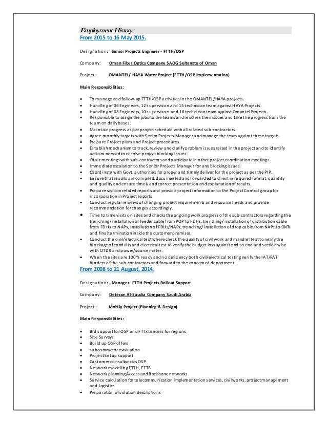Osp Engineer Jobs | Resume CV Cover Letter