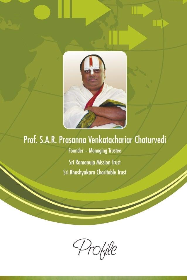 Profile- Prof. SARPV Chaturvedi Slide 1