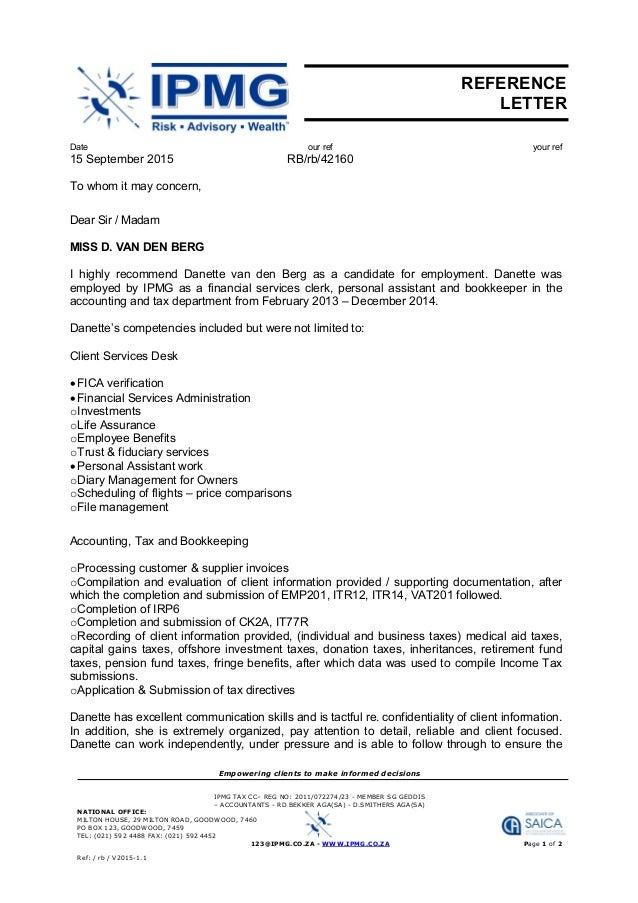 vd Berg_ D_reference letter IPMG