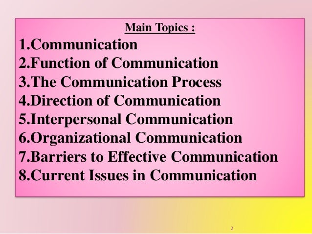 ob effective communication Research study on effective business communication at american express  financial centre table of table table 1: recruitment methods 13 table 2:.
