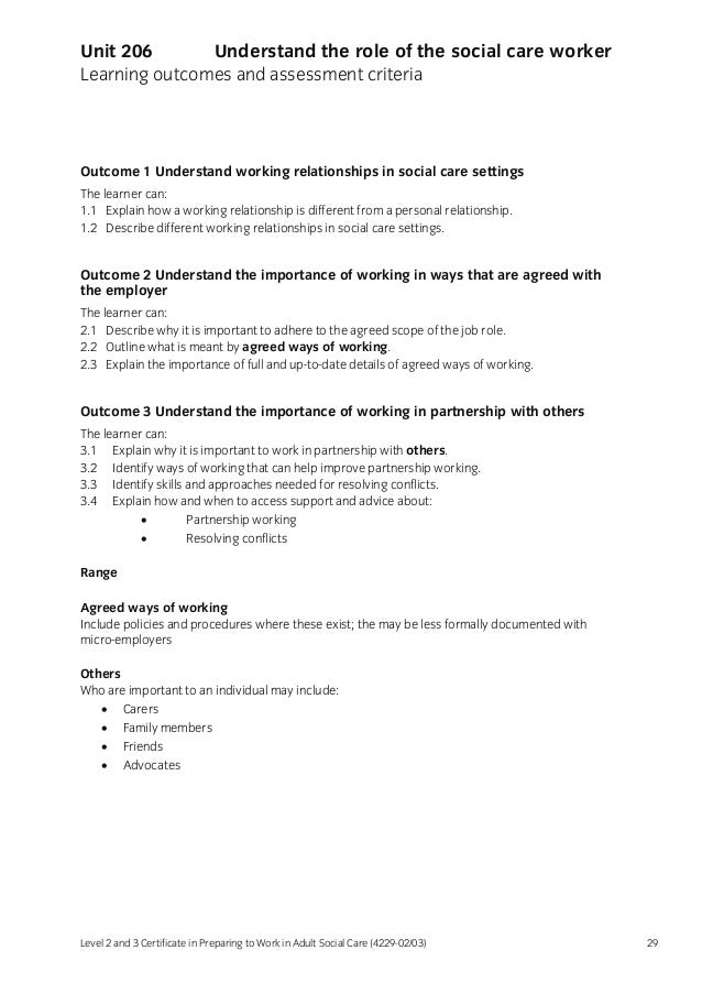 2 2 outline what is meant by agreed ways of working Access full and up to date details of agreed ways of working 1 person found this useful give details of how you have kept your skills up to date  an outline of what is meant by agreed ways of .