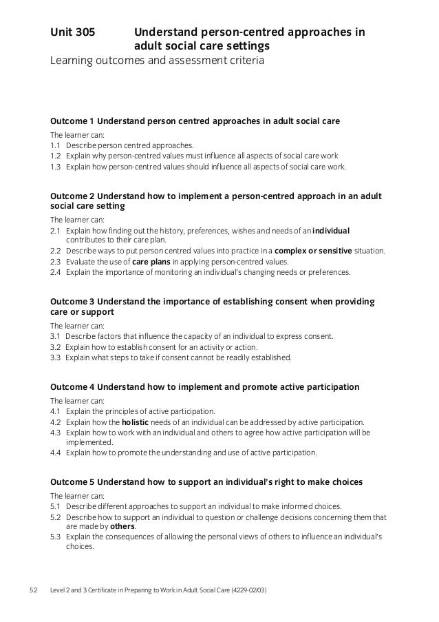unit 306 understand health and safety in social care settings Unit 306 11 identify 3 pieces of legislation relating to health & safety in a care  setting  25 explain how to promote health and safety within the social care  setting  which an untrained person would not understand and having  knowledge of.
