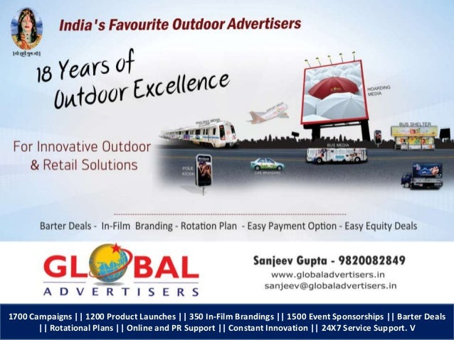 1700 Campaigns || 1200 Product Launches || 350 In-Film Brandings || 1500 Event Sponsorships || Barter Deals || Rotational ...
