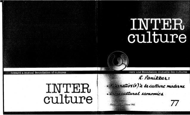 77 alternative(s) à la culture moderne. (textes fr. et angl.) r. panikkar. (document à télécharger en format pdf, 2,6 mb)