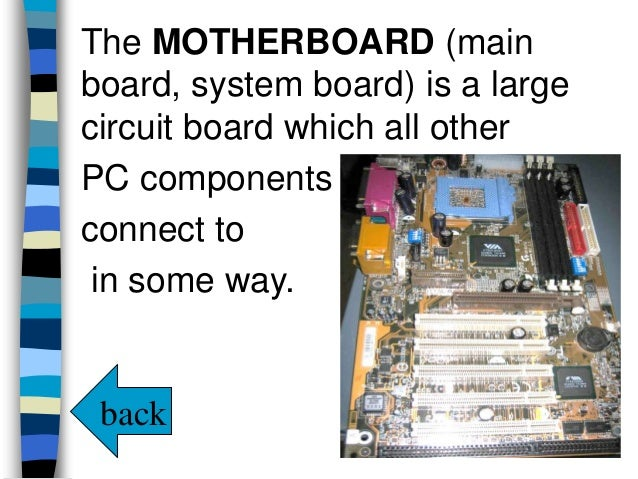 77 identify the parts of a computer
