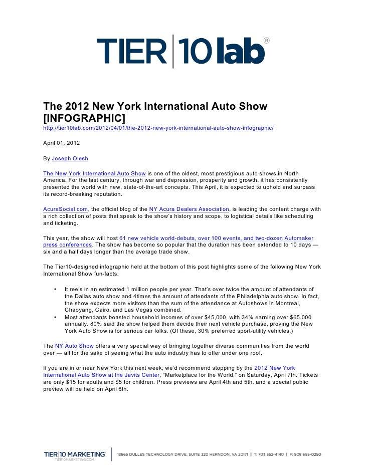 The 2012 New York International Auto Show[INFOGRAPHIC]http://tier10lab.com/2012/04/01/the-2012-new-york-international-aut...
