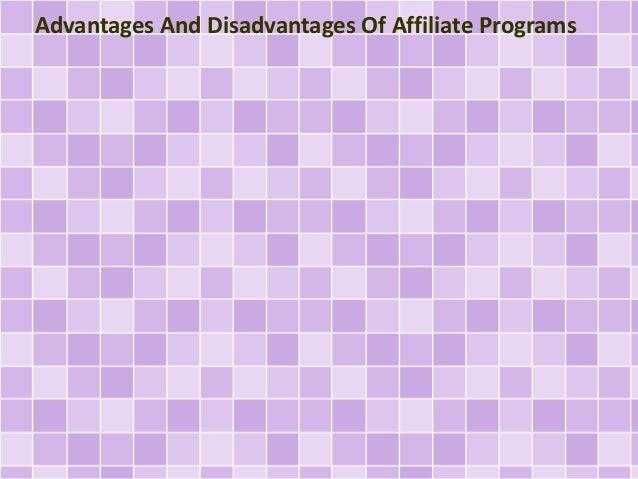 Advantages And Disadvantages Of Affiliate Programs