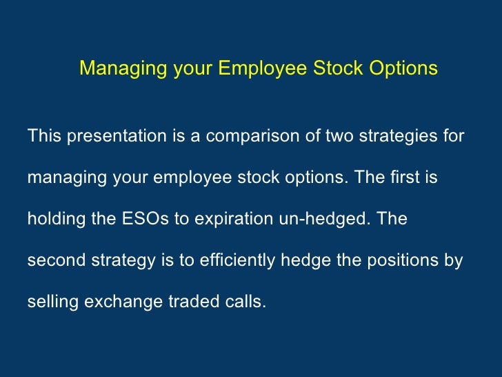 How to manage company stock options