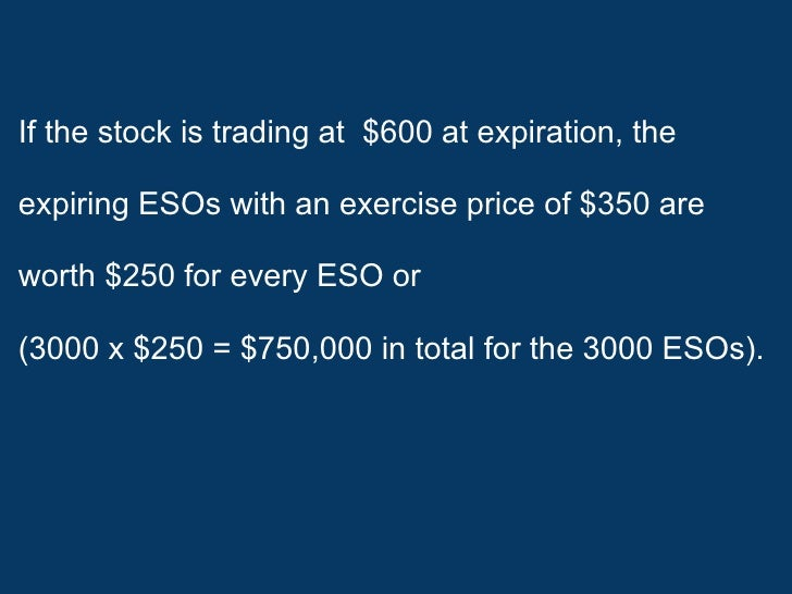 Can employee stock options be traded