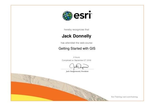 gis certificate slideshare esri arcgis georeferencing raster using data upcoming