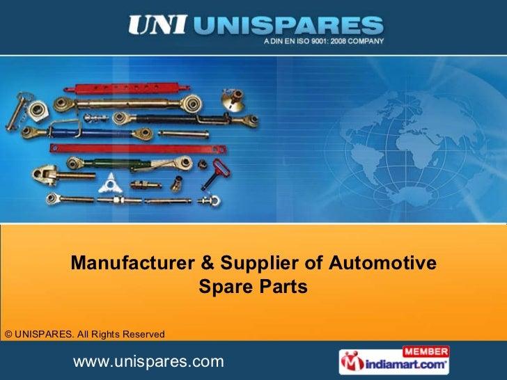 Manufacturer & Supplier of Automotive Spare Parts