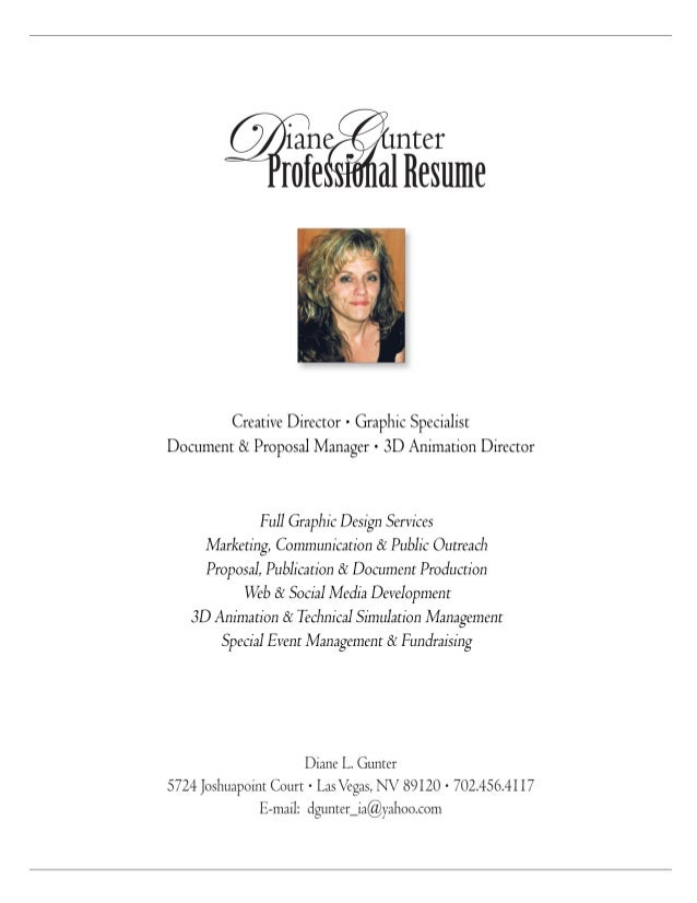 Diane Gunter Resume_2015