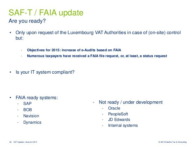 Thursday Talk Vat Update Autumn 2015