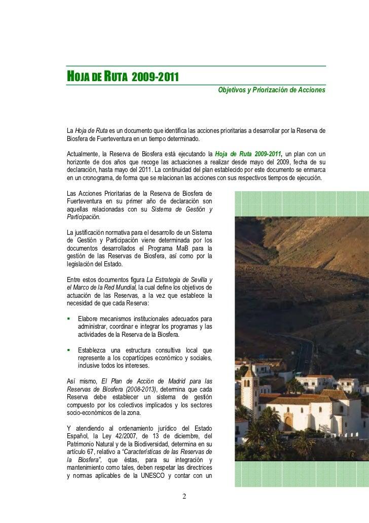 Reserva Biosfera Fuerteventura memoria anual 2009-2011 Slide 2