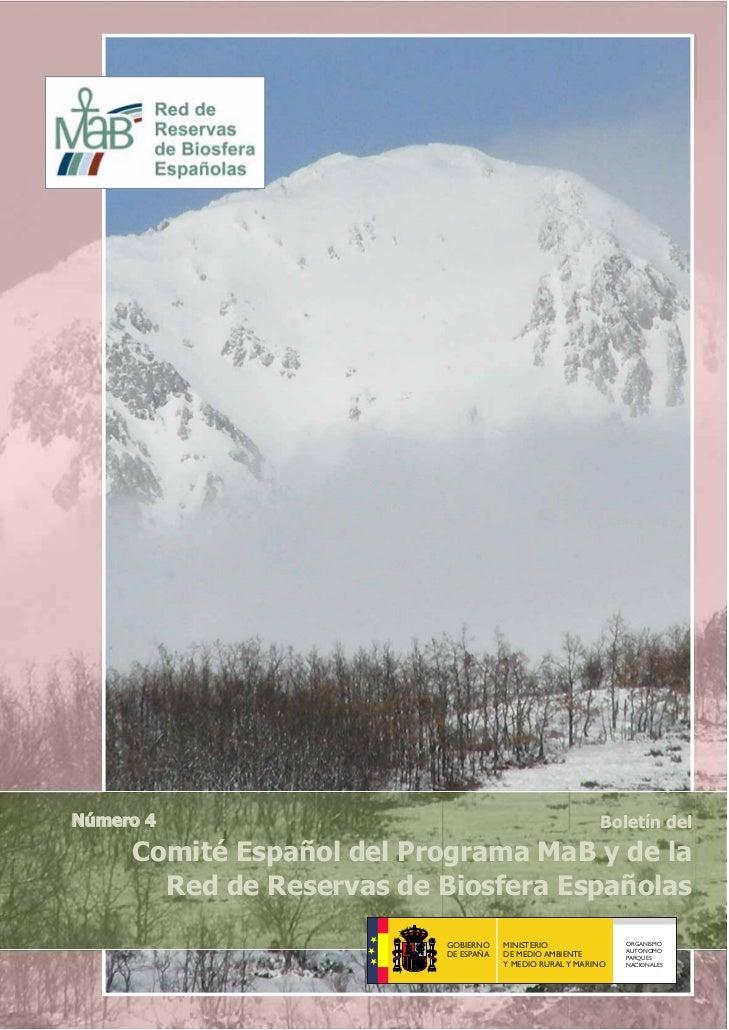 Número 4                                                  Boletín del     Comité Español del Programa MaB y de la       Re...