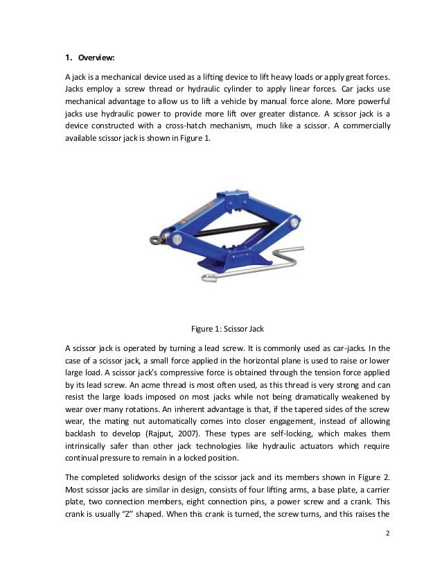 Final Project_ Design and FEM Analysis of Scissor Jack