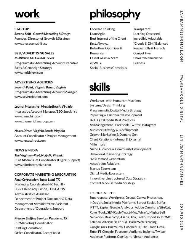 sam bammes the cool resume january 2017